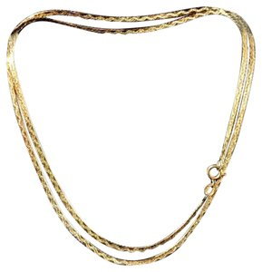 Arezzo Arezzo, Italy, 14k yellow gold, Herringbone, Unisex, 24 inch necklace