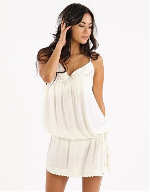Melissa Odabash short dress Ivory Cotton Twill Dusty Pink Kaftan on Tradesy Image 1
