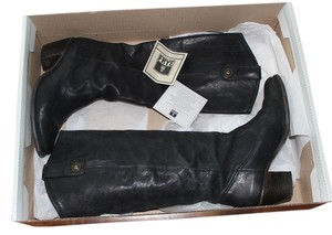 Frye Nubuck Leather Black Boots