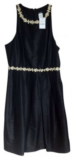 Preload https://item5.tradesy.com/images/jcrew-black-with-tan-flower-design-above-knee-cocktail-dress-size-6-s-171549-0-0.jpg?width=400&height=650