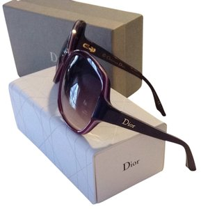 Dior Dior Burgundy And Purple Sunglasses