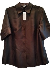 Ann Taylor Top Black silk