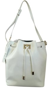 Galian Bucket Faux Leather Classic Basic Tote in White