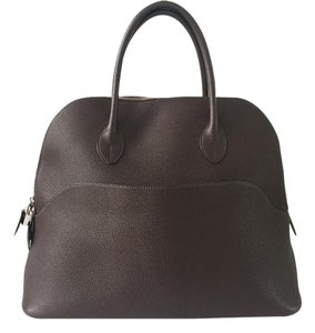 Hermès Bolide 1923 Bolide Travel Weekend Satchel in Chocolate Brown
