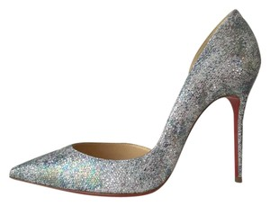Christian Louboutin Iriza Glitter Pigalle Follies So Kate Multicolor Gold Pumps