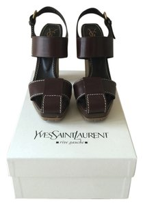 Saint Laurent Ysl Yves Chocolate Sandals