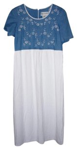 Denim/White Maxi Dress by Other