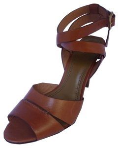 Tory Burch Strappy Ankle Strap Leather Chesnut Sandals