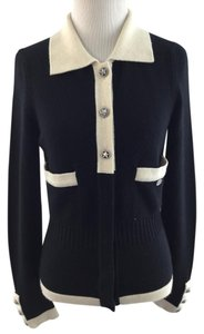 Chanel Cashmere Studded Black Cardigan
