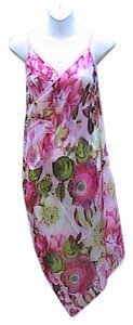Other Pink Floral Chiffon Wrap Around Cover (#1)