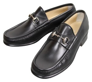 Gucci Leather Loafer Moccasin Black Flats