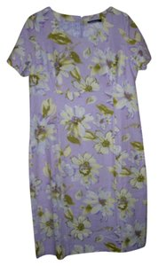 Chadwicks short dress Lilac print on Tradesy