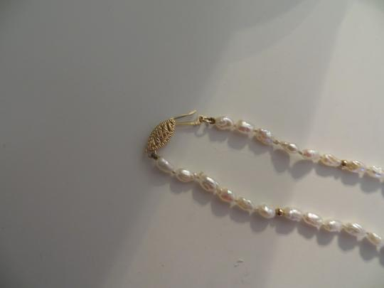 Other 14k Vintage Rice Pearl and Gold Bead Necklace