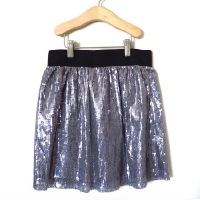 Romeo & Juliet Couture Sequin Mini Cute Girly Mini Skirt Silver