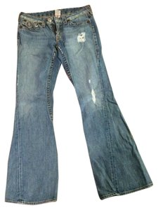 True Religion Joey Big T Flare Leg Jeans-Light Wash