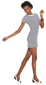 MADE Fashion Week for Impulse short dress Navy/White Striped Cotton Short Sleeve on Tradesy