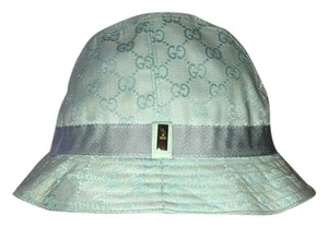 Gucci Gucci GG Monogram Baby Blue Bucket Hat