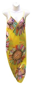 Other Yellow Floral Chiffon Wrap Around Cover (#3)