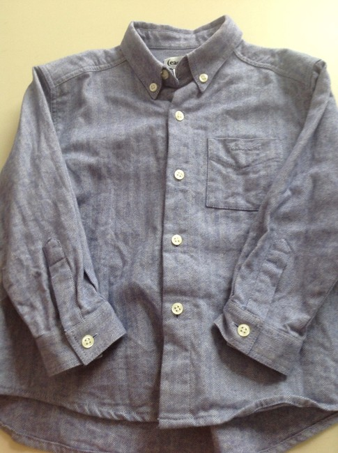 Cacharel child's Button Down Shirt Denim blue