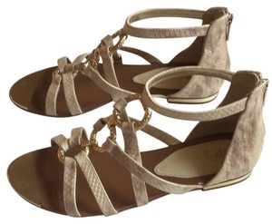 Isola Cream and light brown Sandals