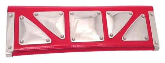 Gucci Patent Leather Mirror Red Clutch