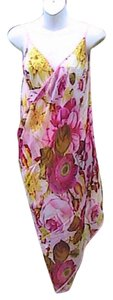 Other Pink Floral Chiffon Wrap Around Cover (#8)