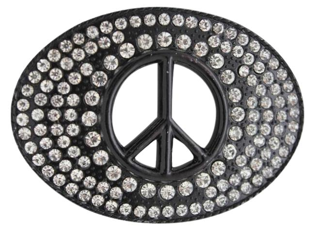 Alwaystyle4you Black New Men Women Hippie 70's Cool Metal Peace Sign Buckle Belt Alwaystyle4you Black New Men Women Hippie 70's Cool Metal Peace Sign Buckle Belt Image 1