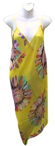 Other Yellow Floral Chiffon Wrap Around Cover (#9)