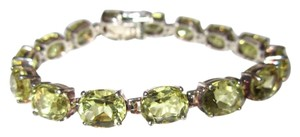 Other Golden Green Chrysoberyl Gemstone 925 Sterling Silver Tennis BRACELET