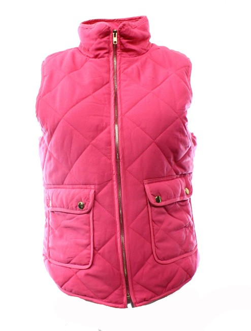 Item - Gold Womens Full Zip Quilted Vest Jacket