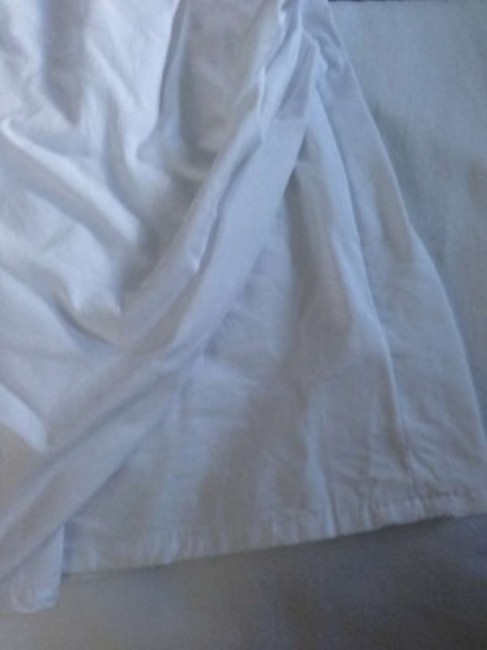 Express Work Business Suite Summer Collared Maternity Top White