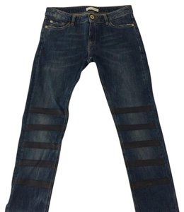 EACHxOTHER Leather Denim Designer Paris Skinny Jeans