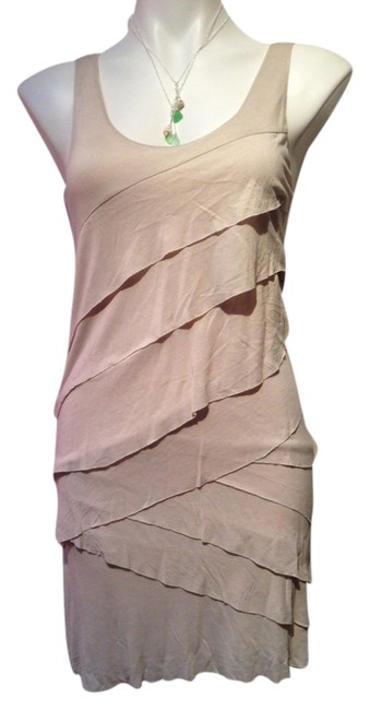 New York & Company short dress Beige Tiered Cocktail Nude on Tradesy