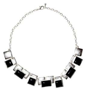 Resin Square Peg Sterling Silver Necklace