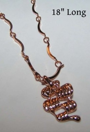 Bogo Free 9k Rose Gold Filled Chain And Pendant Free Shipping