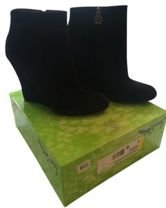 Sam Edelman Wedges Suede Black Boots