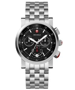 Michele Sport Sail Stainless Steel Black Dial Chronograph MWW01C000022