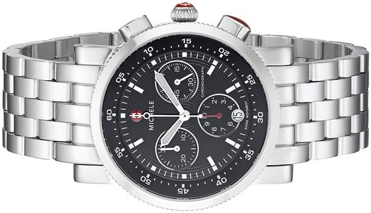 Michele Sport Sail Stainless Steel Black Dial Chronograph MWW01C000022 Image 1