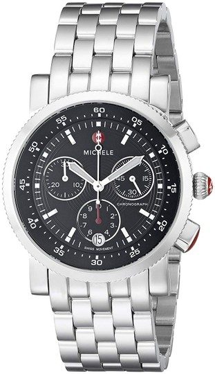Michele Sport Sail Stainless Steel Black Dial Chronograph MWW01C000022 Image 10