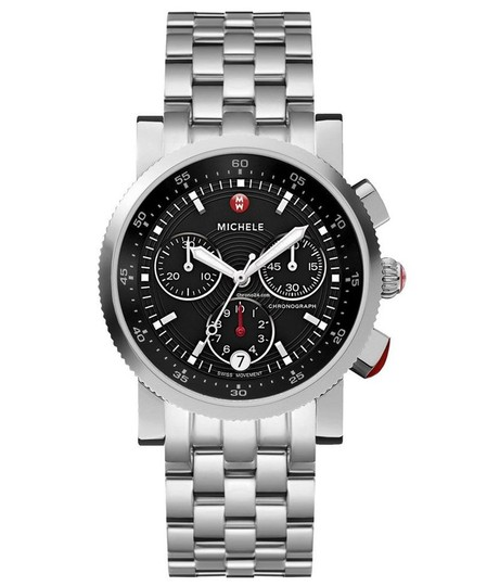 Michele Sport Sail Stainless Steel Black Dial Chronograph MWW01C000022 Image 4