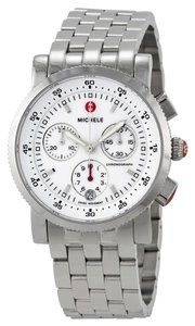 Michele NWT Michele Sport Sail MWW01C000021 Stainless Chronograph Watch