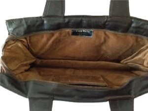 Vera Pelle Vintage Small Leather Lined Brown Clutch