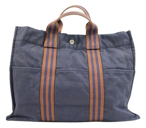 Herms Tote in Blue