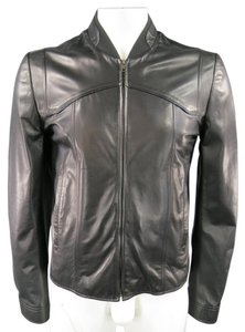 Maison Margiela Bomber Unisex Zip Seams Leather Jacket