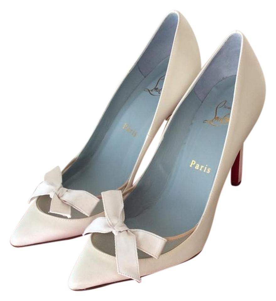 adb82c192e45 Christian Louboutin Off White Love Me 100 Pumps Size US 6 Regular (M ...