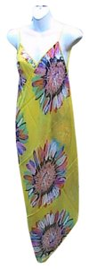 Other Yellow Floral Chiffon Wrap Around Cover (#12)