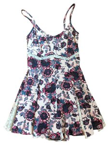 Free People short dress Pink Floral Lace on Tradesy