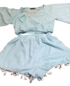 Look book store Baby blue Halter Top