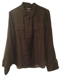 Wet Seal Button Down Shirt Black
