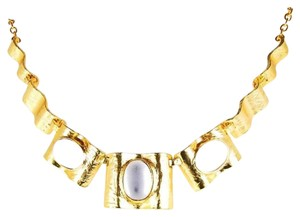 Renaissance 24-kt Gold-Plated Pewter Hammered Statement Necklace